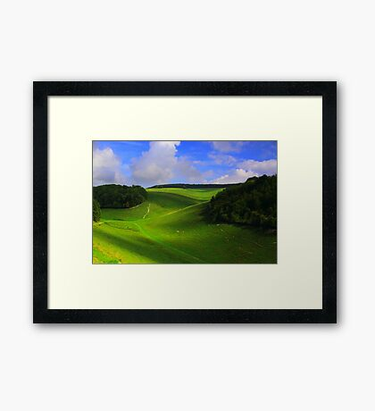 The Nature Of Cloud Shadows  Framed Print