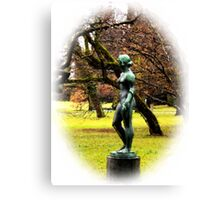 Statue by the Lake Canvas Print