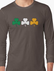 Ireland Shamrock Flag Long Sleeve T-Shirt