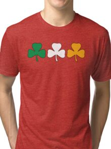 Ireland Shamrock Flag Tri-blend T-Shirt