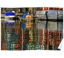 Ranui Reflections - Viaduct Basin, Auckland NZ Poster