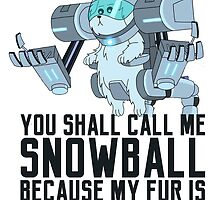 Snowball - Rick and Morty by XWTEddieB