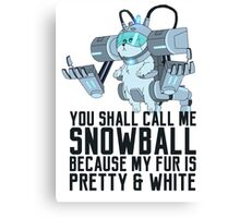 Snowball - Rick and Morty Canvas Print