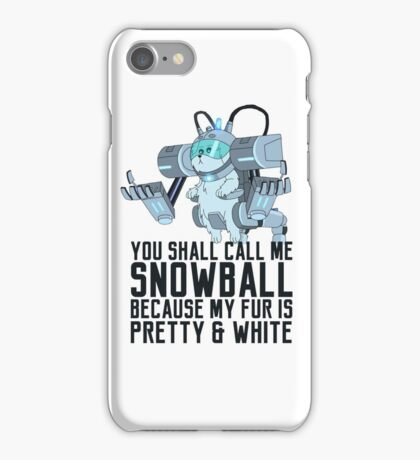 Snowball - Rick and Morty iPhone Case/Skin