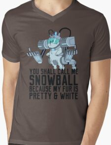 Snowball - Rick and Morty Mens V-Neck T-Shirt