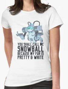 Snowball - Rick and Morty Womens Fitted T-Shirt