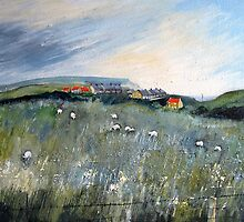 Looking Back to Cowbar Cottages by Sue Nichol