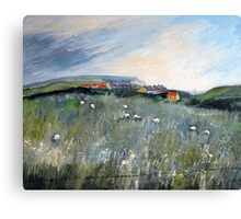Looking Back to Cowbar Cottages Canvas Print
