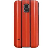 Red metal corrugated sheet metal Samsung Galaxy Case/Skin