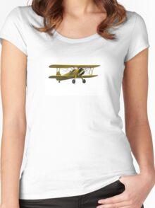 Boeing Stearman Trainer  Women's Fitted Scoop T-Shirt