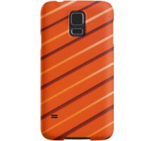 Orange metal corrugated sheet metal Samsung Galaxy Case/Skin