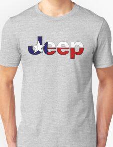Jeep outline Texas flag T-Shirt
