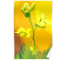 Admiring beauty of flowers Poster