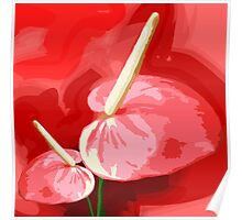 Beautiful anthurium for a modern living room  Poster