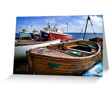 Boats at Beer Greeting Card