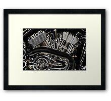 Neon Engine Framed Print