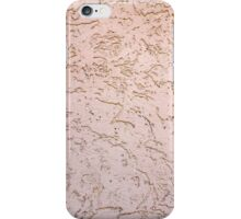 The uneven surface of the wall of gray-pink color iPhone Case/Skin