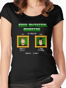 Good Mythical Morning (Famicom-Style) Women's Fitted Scoop T-Shirt