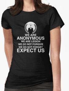 Anonymous Womens Fitted T-Shirt
