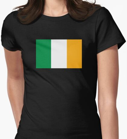 Ireland Flag Womens Fitted T-Shirt