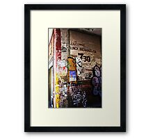 Oversight - Oxford street Framed Print
