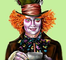 Mad Hatter Teacup Painting by impossible-m