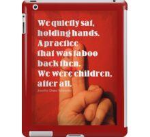 Holding Hands iPad Case/Skin