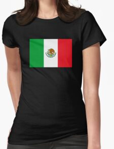 Mexico Flag Mexican Flag Womens Fitted T-Shirt