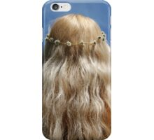 Cute Blonde Girl Festival Hippy Chick Hair and Daisy Chain iPhone Case/Skin