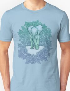 Emerald Elephant in the Lilac Evening T-Shirt
