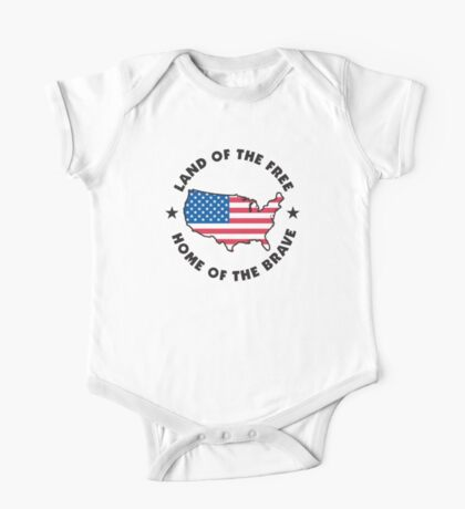 Land of The Free Home of The Brave One Piece - Short Sleeve