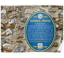 St Pauls Church  Honiton History Poster