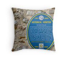 St Pauls Church  Honiton History Throw Pillow