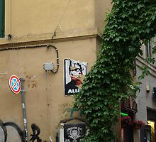 Poster on a Street (Trastevere, Rome) by PleasureInc