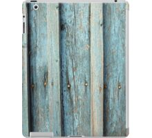 Fragment of an old wooden fence made of boards iPad Case/Skin