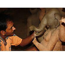 Making of Ganesha Photographic Print