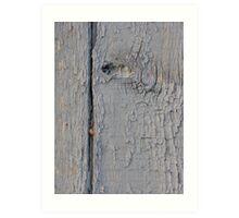 Old Morrocan wood 1 Art Print