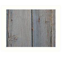 Old Morrocan wood 2 Art Print