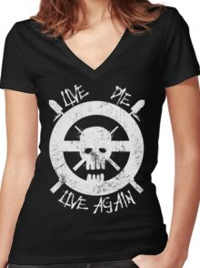 I live again Women's Fitted V-Neck T-Shirt
