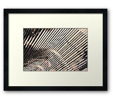 Steely Graphic Framed Print
