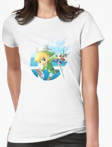 Smash Hype - Toon Link Womens Fitted T-Shirt