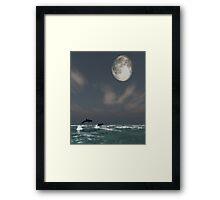 Moonlight Swim Framed Print
