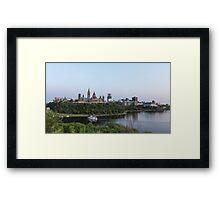 City of Ottawa at dusk Framed Print