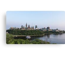 City of Ottawa at dusk Canvas Print