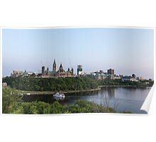 City of Ottawa at dusk Poster