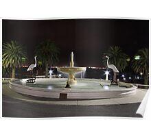 Eastern Beach Fountain, Geelong, Vic Poster
