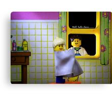 Peeping Lego Canvas Print