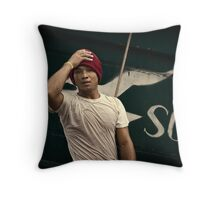 Angel in Red Cap #0101 Throw Pillow