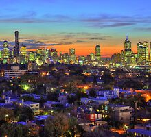 City Jewels at Dusk - Melbourne from South Yarra by Ben Taylor