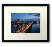 The bridge over water Framed Print